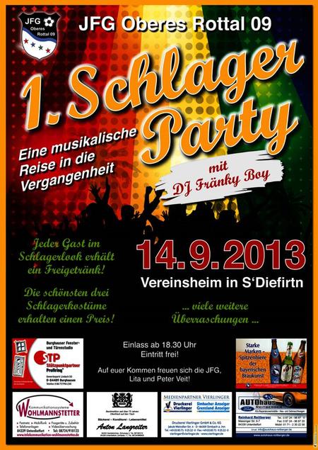 Einladung JFG Schlagerparty